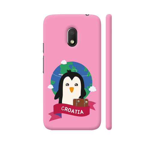 Penguin Globetrotter From Croatia Moto G4 Play Cover | Artist: Torben