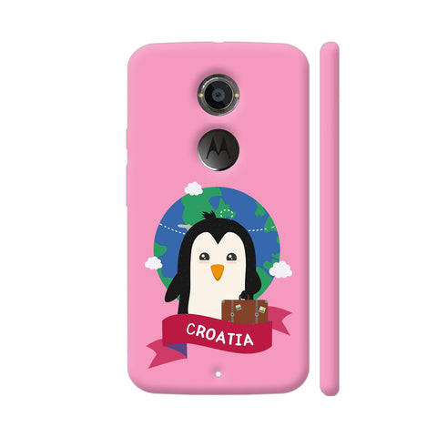 Penguin Globetrotter From Croatia Moto X2 Cover | Artist: Torben