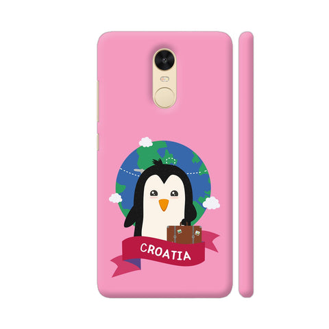 Penguin Globetrotter From Croatia Redmi Note 4 Cover | Artist: Torben