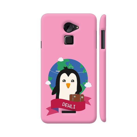 Penguin Globetrotter From Dehli Coolpad Note 3 Lite Cover | Artist: Torben