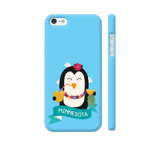 Penguin Hawaii From Minnesota iPhone 5 / 5s Cover | Artist: Torben