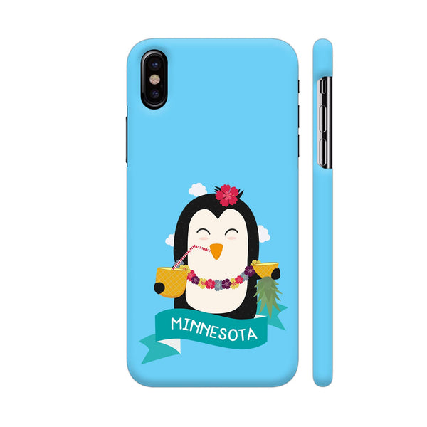 Penguin Hawaii From Minnesota iPhone X Cover | Artist: Torben