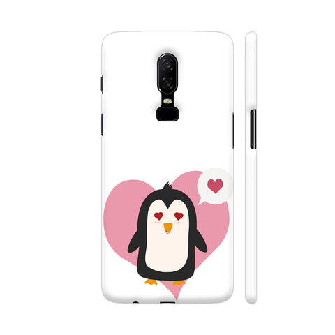 Penguin In A Heart OnePlus 6 Cover | Artist: Torben