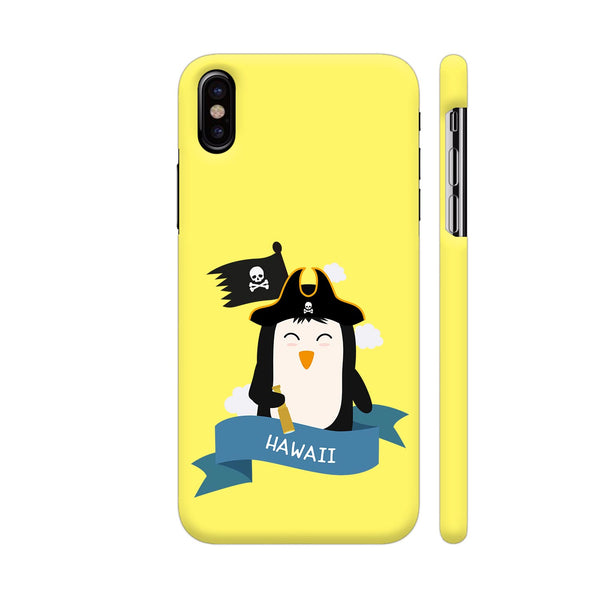 Penguin Pirate Captain From Hawaii iPhone X Cover | Artist: Torben