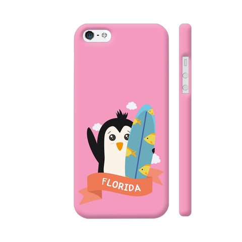 Penguin Surfer From Florida iPhone 5 / 5s Cover | Artist: Torben