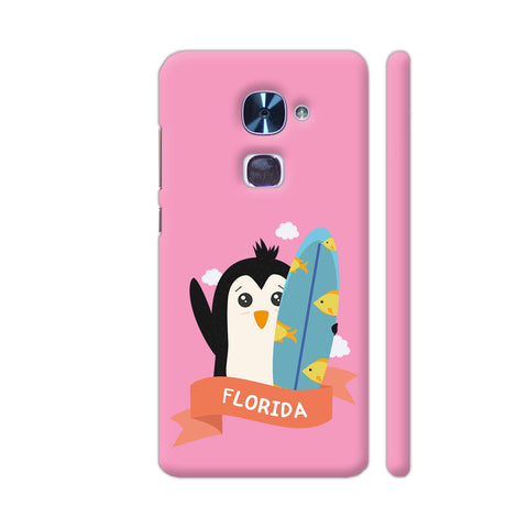 Penguin Surfer From Florida LeEco Le 2 Cover | Artist: Torben