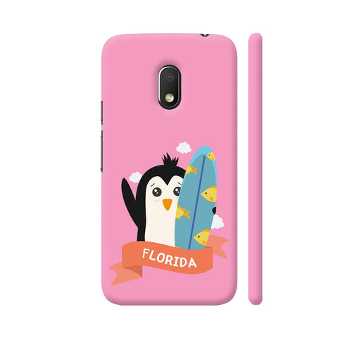 Penguin Surfer From Florida Moto G4 Play Cover | Artist: Torben
