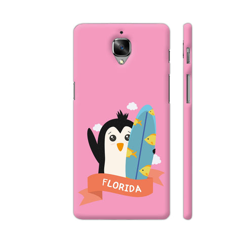 Penguin Surfer From Florida OnePlus 3 Cover | Artist: Torben