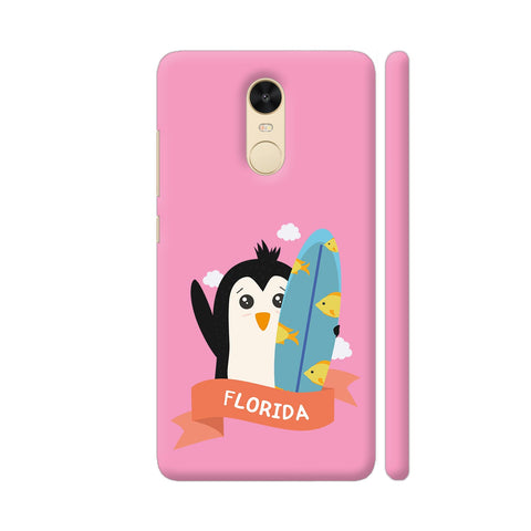 Penguin Surfer From Florida Redmi Note 4 Cover | Artist: Torben