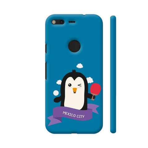 Penguin Table Tennis From Mexico City Google Pixel Cover | Artist: Torben