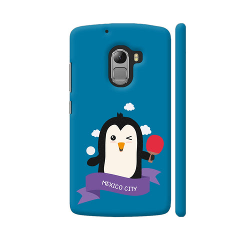 Penguin Table Tennis From Mexico City Lenovo K4 Note Cover | Artist: Torben