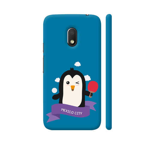 Penguin Table Tennis From Mexico City Moto G4 Play Cover | Artist: Torben