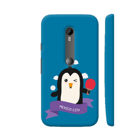 Penguin Table Tennis From Mexico City Moto G Turbo Cover | Artist: Torben
