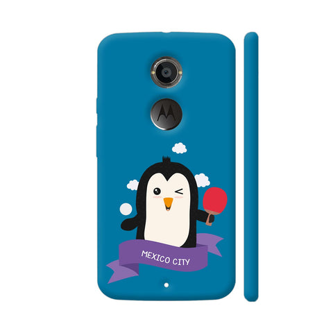 Penguin Table Tennis From Mexico City Moto X2 Cover | Artist: Torben