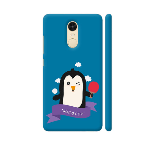 Penguin Table Tennis From Mexico City Redmi Note 4 Cover | Artist: Torben