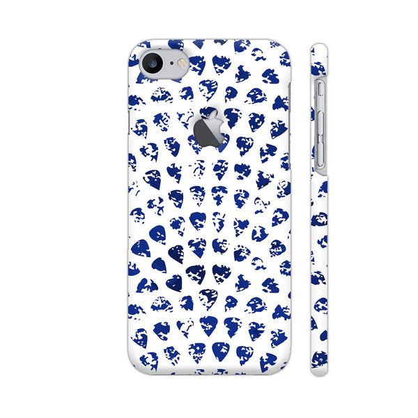 Petals Blue iPhone 7 Logo Cut Cover | Artist: Abhinav