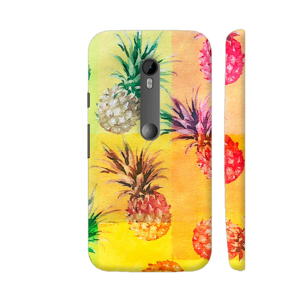 Pineapple Multicolor Artwork Moto G Turbo Cover | Artist: LebensART