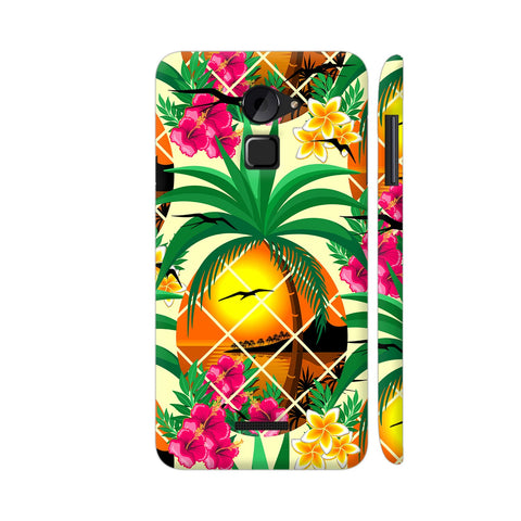 Pineapple Tropical Sunset And Flowers Coolpad Note 3 Lite Cover | Artist: BluedarkArt