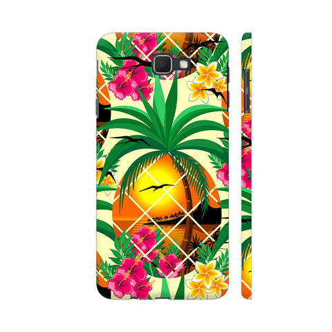 Pineapple Tropical Sunset And Flowers Samsung On Nxt Cover | Artist: BluedarkArt