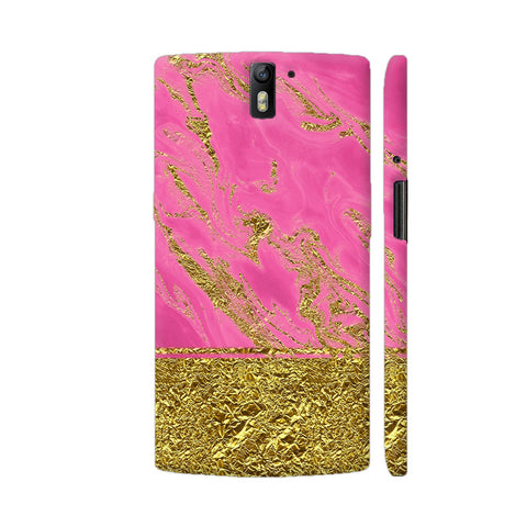 Pink And Gold Marble 2 OnePlus One Case