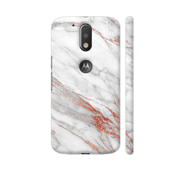 Pink And Rose Gold Marble Print 1 Moto G4 / Moto G4 Plus Cover | Artist: UtART