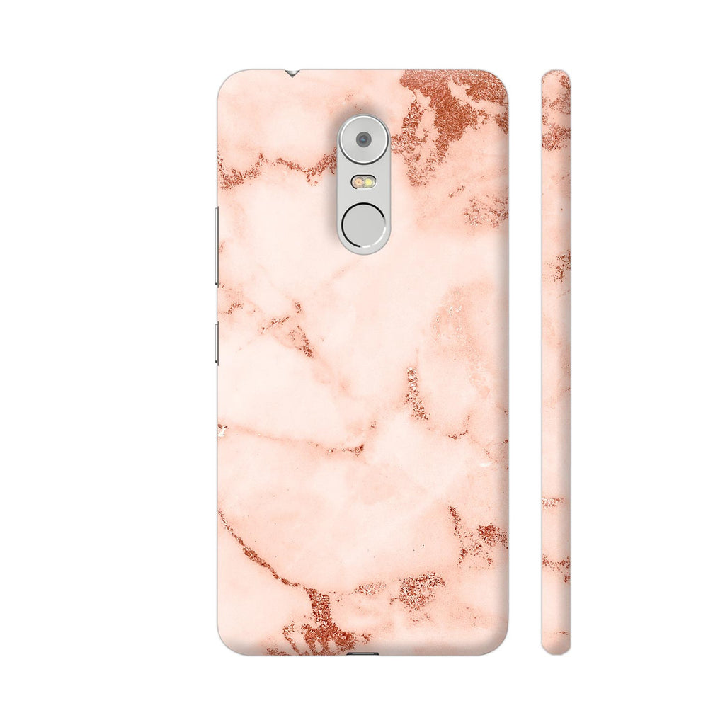 Pink And Rose Gold Marble Print 2 Lenovo K6 Note Cover | Artist: UtART