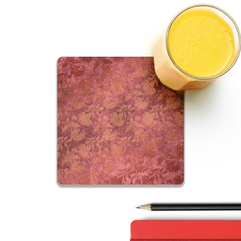 Pink Luxury Damask Coaster
