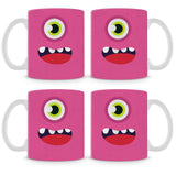 Pink Monster Mug (Set of 4)