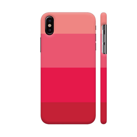 Pink Shades Block iPhone X Cover | Artist: Astha