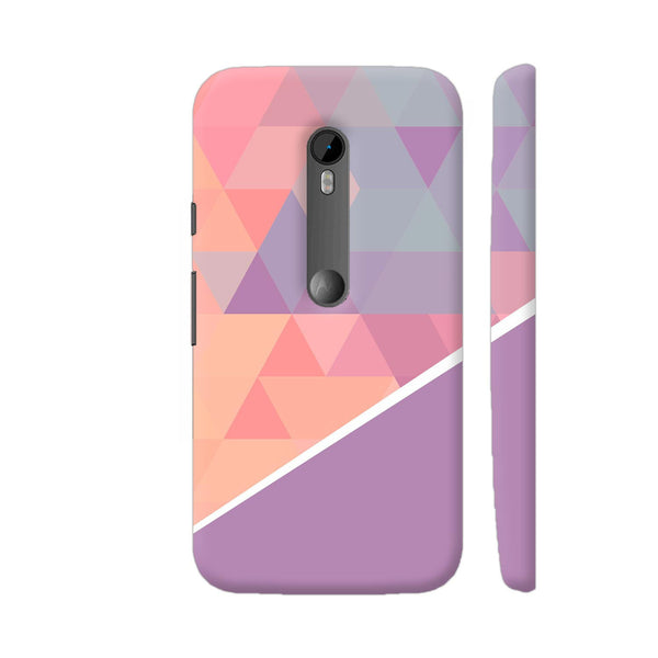 Pink Shades Triangular Pattern Moto G Turbo Cover | Artist: Astha
