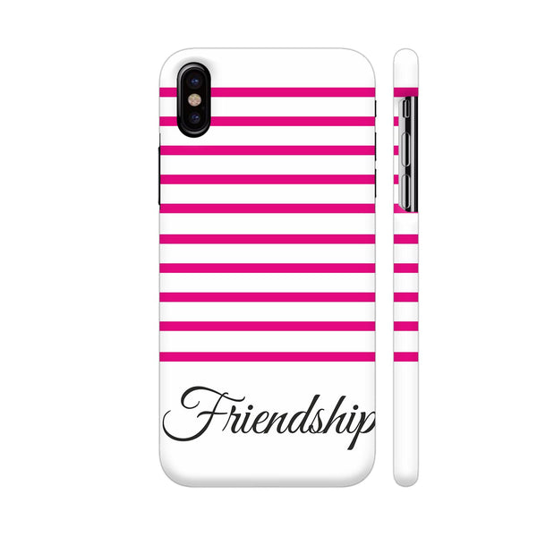 Pink Strips Friendship iPhone X Cover | Artist: Mita