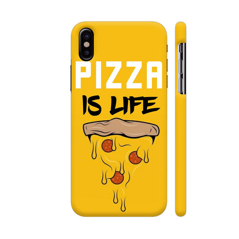 Pizza Is Life iPhone X Cover | Artist: Nilesh Gupta