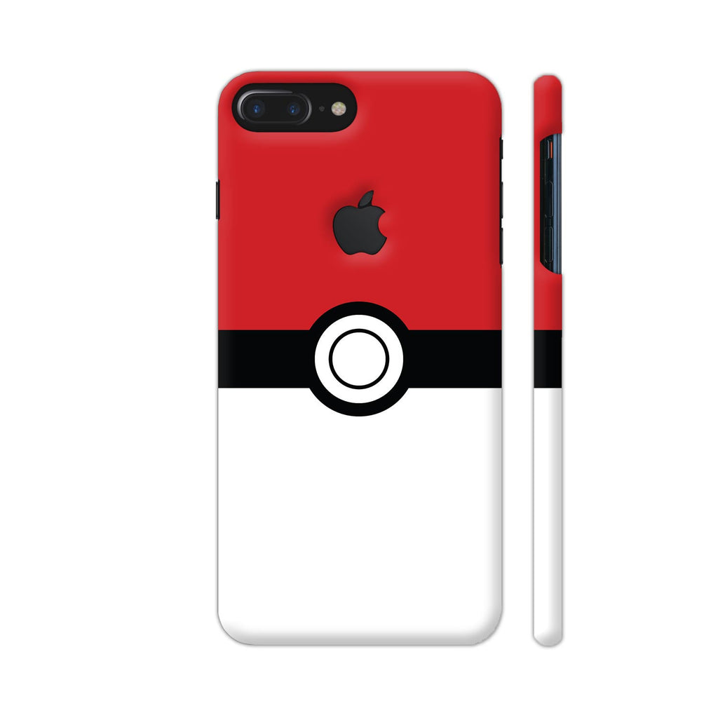 Colorpur Iphone 7 Plus Logo Cut Case Pokemon Go Red White Design