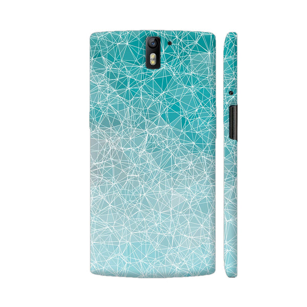 Polygons And Triangles In Blue OnePlus One Cover | Artist: VanessaGF