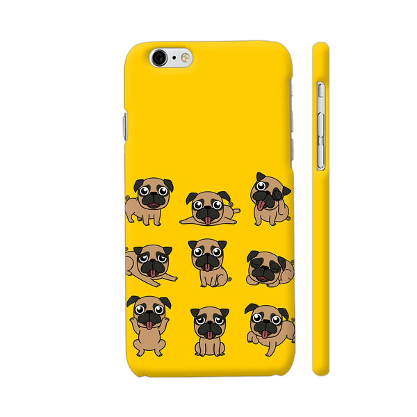 Pug Faces On Yellow iPhone 6 Plus / 6s Plus Cover | Artist: Manju NK