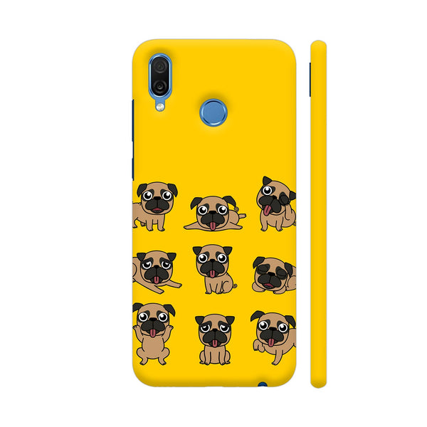 Pug Faces On Yellow Honor Play Cover | Artist: Manju NK