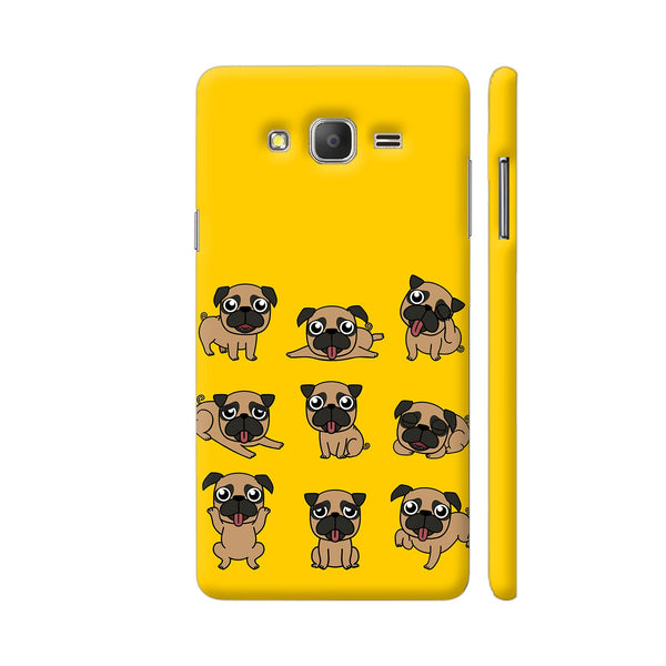 Pug Faces On Yellow Samsung On7 Pro Cover | Artist: Manju NK