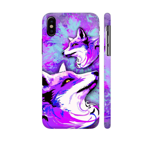 Purple Fox Spirit iPhone X Cover | Artist: BluedarkArt