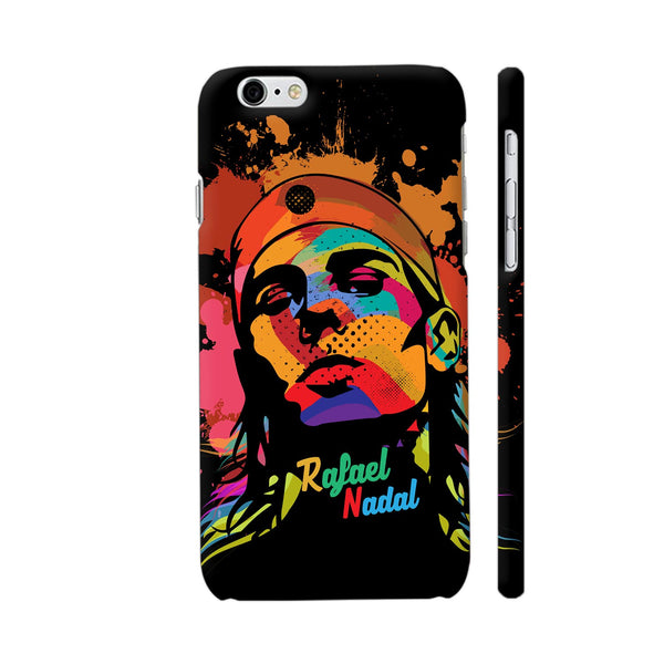 Rafael Nadal Painting On Black iPhone 6 / 6s Cover | Artist: Designer Chennai