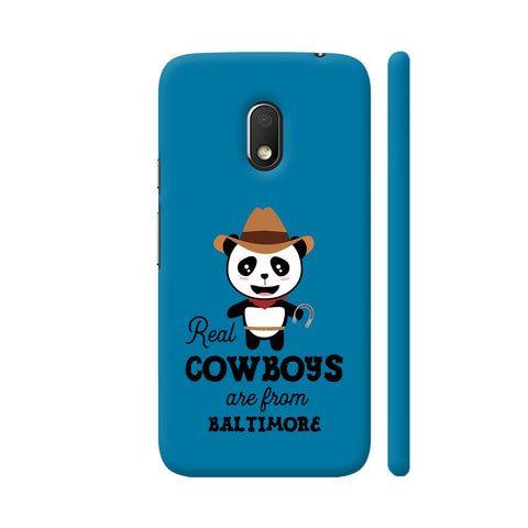 Real Cowboys Are From Baltimore Moto G4 Play Cover | Artist: Torben