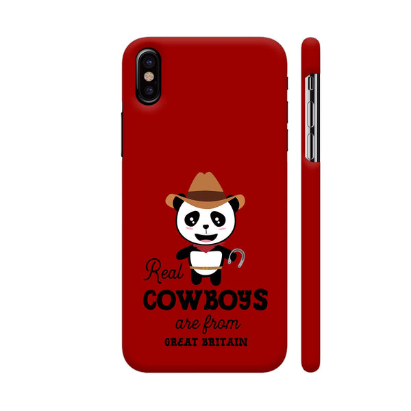 Real Cowboys Are From Great Britain iPhone X Cover | Artist: Torben