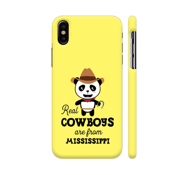Real Cowboys Are From Mississippi iPhone X Cover | Artist: Torben