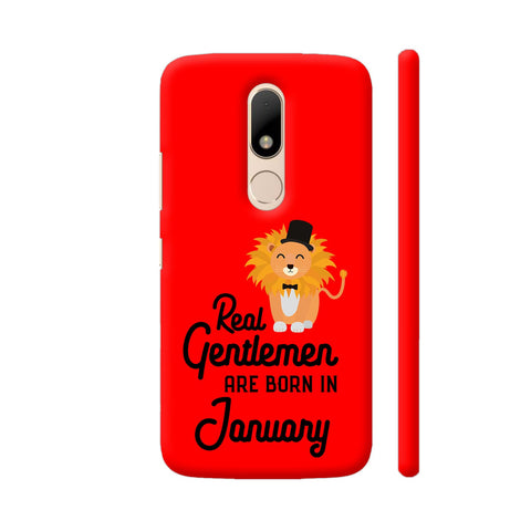 Real Gentlemen Are Born In January 3 Moto M Cover | Artist: Torben