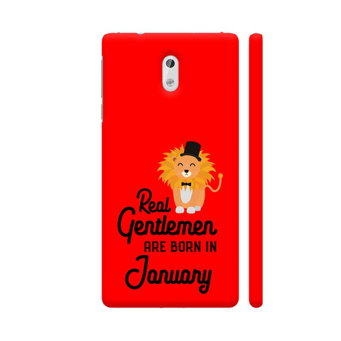 Real Gentlemen Are Born In January 3 Nokia 3 Cover | Artist: Torben