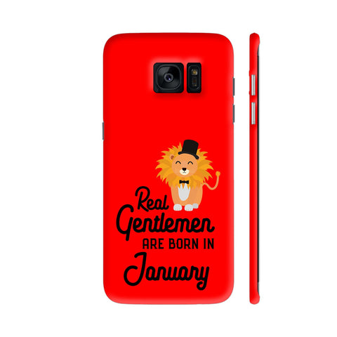 Real Gentlemen Are Born In January 3 Samsung Galaxy S7 Edge Cover | Artist: Torben