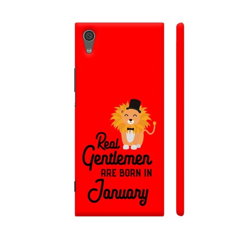 Real Gentlemen Are Born In January 3 Xperia XA1 Cover | Artist: Torben