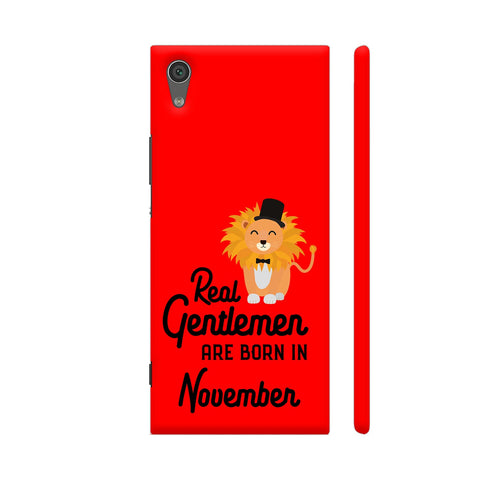 Real Gentlemen Are Born In November 3 Xperia XA1 Cover | Artist: Torben
