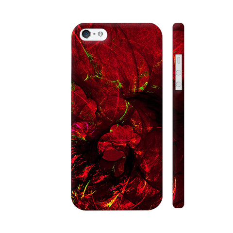 Red Art iPhone SE Cover | Artist: Jen28nart