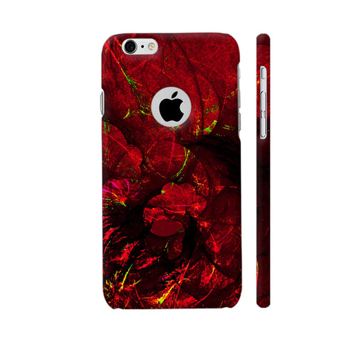 Red Art iPhone 6 / 6s Logo Cut Cover | Artist: Jen28nart