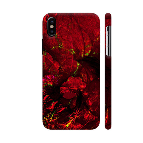 Red Art iPhone X Cover | Artist: Jen28nart
